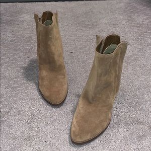 Dolce Vita camel brown suede booties